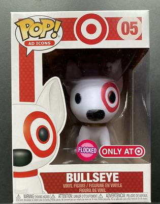 Damaged Box Funko POP Ad Icons Flocked Bullseye Target Exclusive Free Shipping
