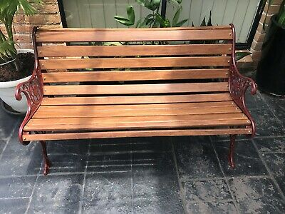 Cast Iron Park Bench Garden Seat Antique Vintage EXTRA HEAVY