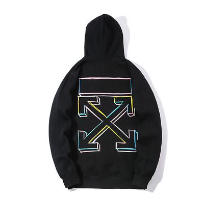OFF WHITE OW Unisex Hoodie 01 ALL Speed Reduced Letters Männer Sport Hoodie DE/&