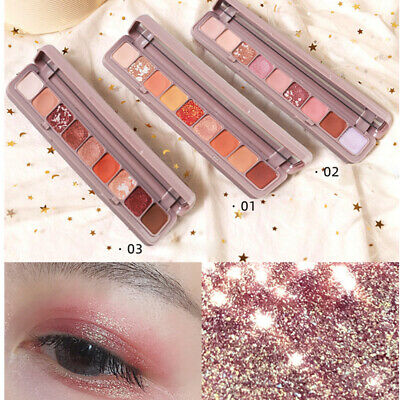 1pc 9 Colors Eyeshadow Palette Matte Pearlescent Shimmer Glitter Eyeshadow Tray