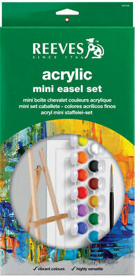 Reeves Mini Easel Set Includes 12 Acrylic Colours
