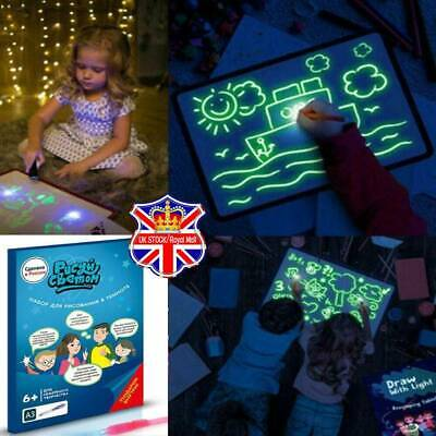 Light Up Drawing Fluorescent Magic Writing Board Kit Kids Fun & Developing Toy