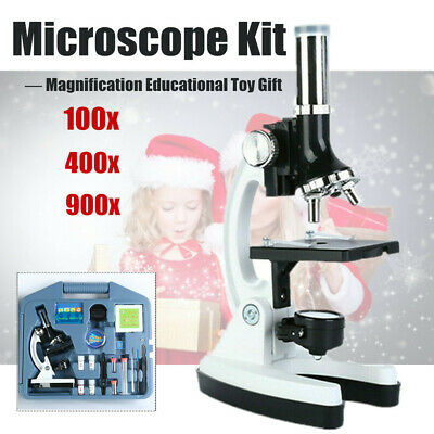 28 Pcs Kids Educational Learning Science Lab Kit Microscope Case Good Gift SALE