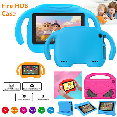 Kids Safe Case Children EVA Cover Stand For Amazon Fire HD 8 Tablet Foam handle