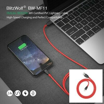 BlitzWolf BW-MF11 2.4A 0.91m MFi Certified Apple Lightning Charging Data Cable