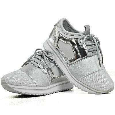 Kids Childrens Girls Unisex Toddler Flat Trainers Lace Up Sports Pull On Sneaker