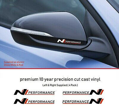 Hyundai i30N Performance Decal Mirror Premium 10 Year Vinyl Decal Stickers kit