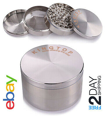Extra Large 4 Piece Tobacco Grinder Sharp Metal Spice/Herb Crusher (3.0 Inch)