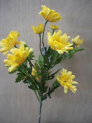 Pack 6 Stems Golden Yellow Daisy Spray X10 Blooms Silk Flowers