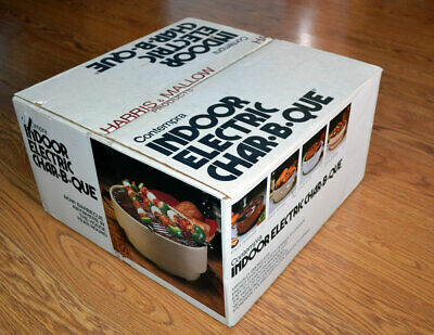 Vintage Contempra Indoor Anywhere Electric Char-B-Que Barbecue NEW Open Box