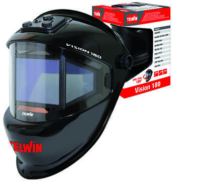 Telwin New '2018 Mask Vision 180° Ideal for Solder Mma / Mig-Mag/Tig