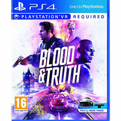 Blood and Truth PS4 New & Sealed PS Playstation VR Required