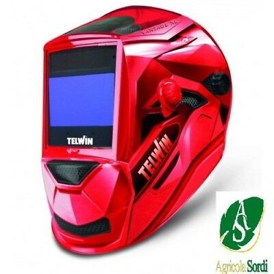 Telwin Vantage Red XL Mask for Soldering Welder Automatic Tig