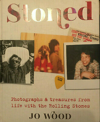 Jo Wood Autograph - Stoned Hardback Book - Rolling Stones -  Signed 2  - AFTAL