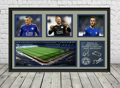 New Leicester City FC Signed Photo Print Poster Football Memorabilia