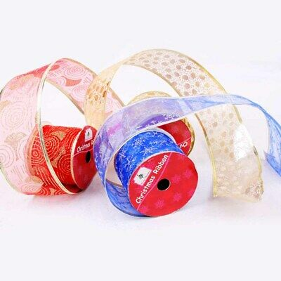 2.7MRoll Christmas Ribbon Tying Wreath&Tree Decoration DIY Crafts Gift Wrapping