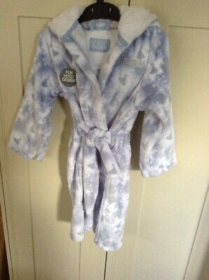 New Girls M & S Disney Frozen Dressing Gown Size Age 4-5 Years