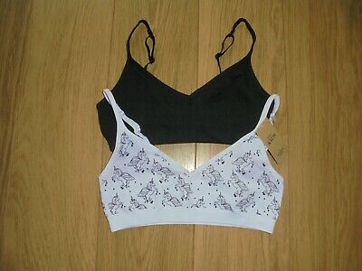 2 Pack Marks & Spencer Girl's Seamfree Crop Top Bra's Age 15-16 Years