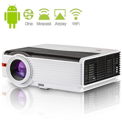 Home Cinema Projector Android Wifi Smart Outdoor Party HD 1080p 8000lumen 8000:1