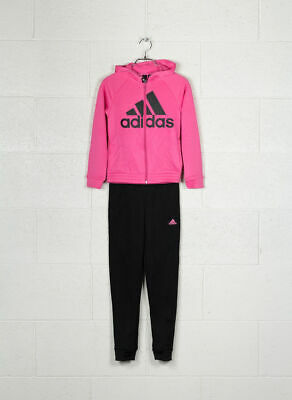 Adidas girls hooded polyester tracksuit age 11/12 yrs, 13/14 yrs