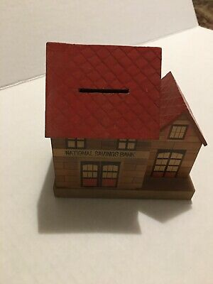 Vintage National Savings Bank Model House Made In Japan