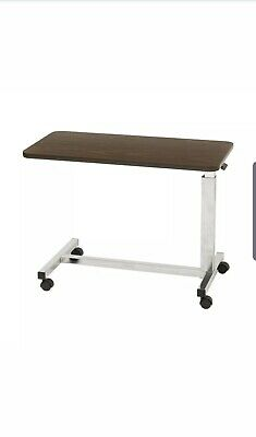 Drive Medical Low Height Overbed Table 13081 Walnut