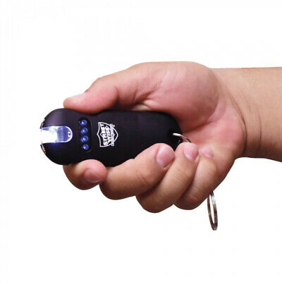 Streetwise Smart Black Stun Gun 24 Mil Volts Keychain Led Light Self Defense