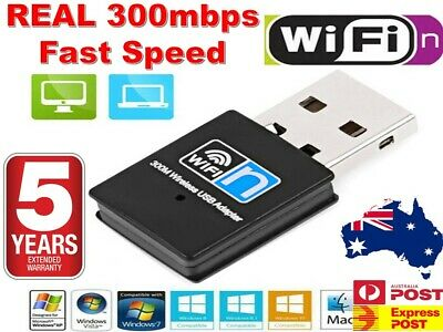 USB Wireless 300Mbps N WiFi Adapter Dongle Network LAN Card 802.11n  Windows 10