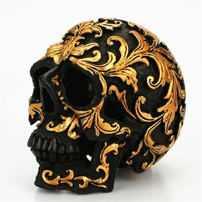Resin Small Skull Head Ornaments for Bar Home Decoration Desktop Gift!@S