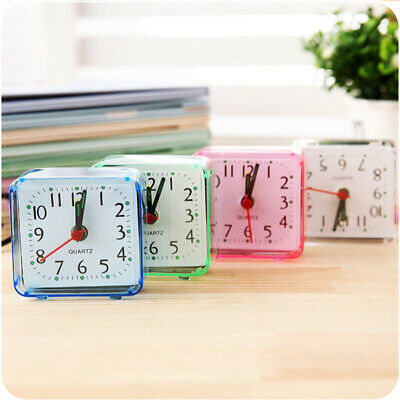 Square Small Bed Compact Travel Quartz Beep Alarm Clock Cute Mini Portable Hot