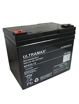 2 X ultra max 12V 35Ah - Shoprider 6 Chemin 10 de Luxe Remplacement - Gel Piles