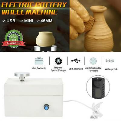 Mini USB Electric Pottery Wheel Machine 45mm Ceramic Clay Art Pottery DIY Shop