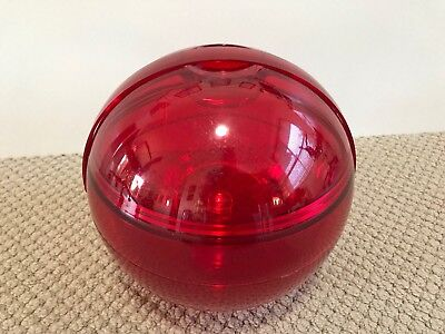 Retro Red Ball Storage Container