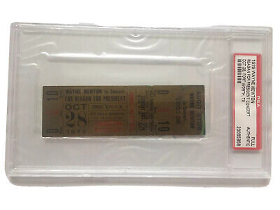 1979 Governor Ronald Reagan for President Wayne Newton Concert full Ticket PSA