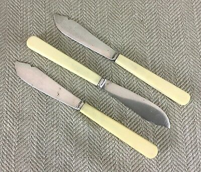 Art Deco Table Knives Bakelite Handles Silver Plated Cutlery Mappin Webb