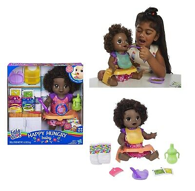 Baby Alive Happy Hungry Baby Doll - Black Curly Hair Kid Toy Gift