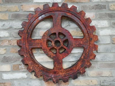 Gear Wall Decoration Wall Mount MGO Resin Hang Home Office Gift Rustic
