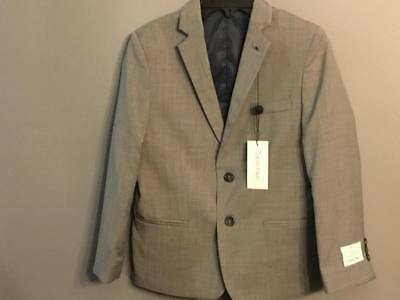 Calvin Klein Boys Big Kid Pindot Jacket Light Grey(husky) Size 10 SALE
