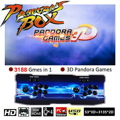 Pandora's Box 12 3188 in 1 Games 4 Player Arcade Console LCD USB Support PC TV