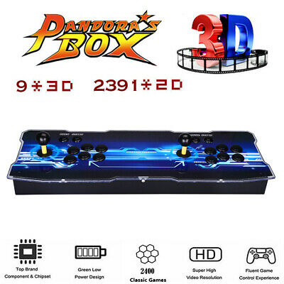 Pandora's Box 9 2400 in 1 Classic Gaming 2 Player Retro Console LCD Support PC