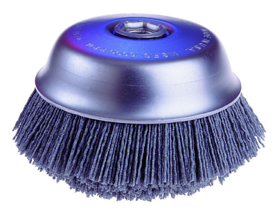Osborn ATB Abrasive Nylon Cup Brush with Round Trim, Silicon Carbide Bristle, 6""