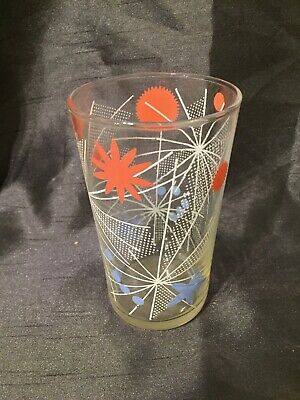 Vintage Retro Mid Century Modern Tumbler Glass Darling Buds Of May