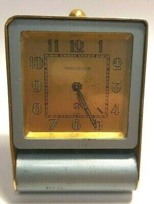 JAEGER LECOULTRE  Art Deco 2 Day Alarm Desk Travel Clock - alarm not working