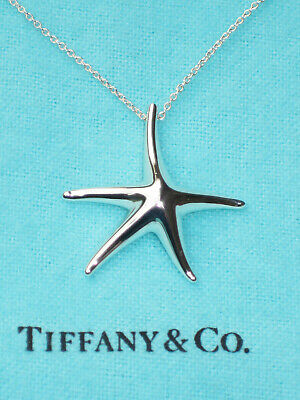 Tiffany & Co Sterling Silver Elsa Peretti Large Starfish 28mm Necklace