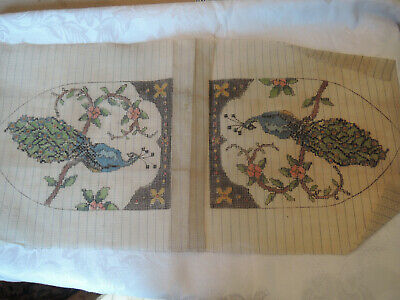 antique needlepoint canvas for peacock beaded flapper purse