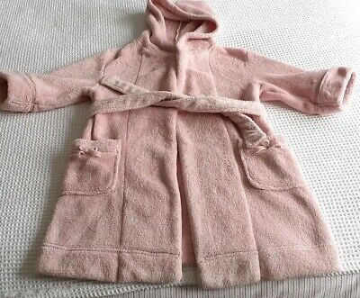 Girls Pale Pink Soft Fluffy dressing Gown  Monsoon Age 2 3 4