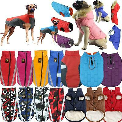 Small Medium Large Dog Coats Jacket Waterproof Pet Winter Warm Vest Jumper UK