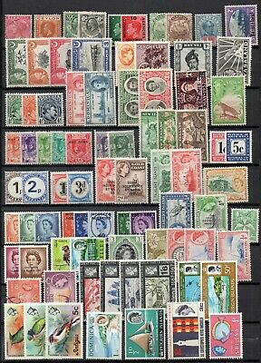 collection of 100+ QV to QEII commonwealth stamps