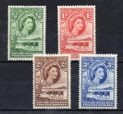 set of 4 mint QEII stamps from Bechuanaland. 1955. cat£6
