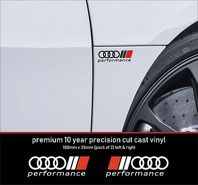 Audi performance Sport 10 YearCast Vinyl Decals Stickers x 4 - many colours  alt